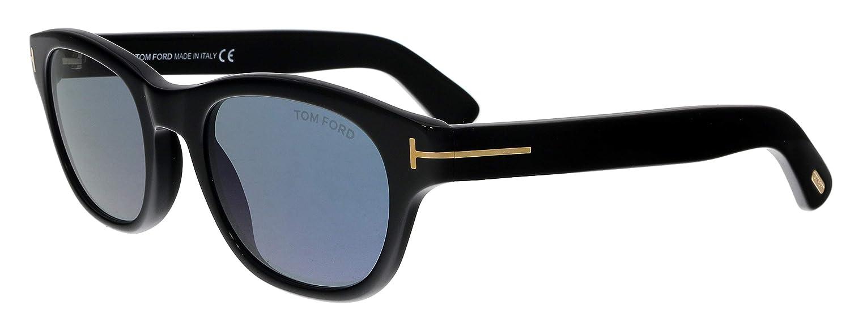 ad3ec3825f226 Sunglasses Tom Ford FT 0530 O keefe 01V shiny black   blue at Amazon Men s  Clothing store