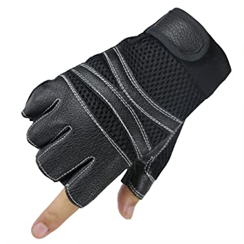 38d2d778f872d Amazon.com : Comfspo Mens Sports Half Finger Professional Training ...