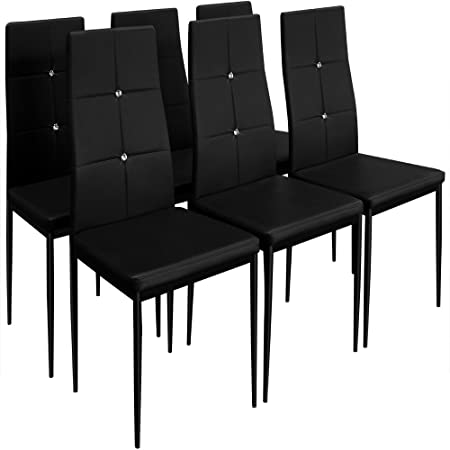 6 Dining Chairs Chair High Back Upholstered Chairs Dining Set Dining Chair  Colour Choice Black