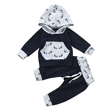 Toddler Baby Girls Boy Cute Outfits Clothes Hoodie Tops Pants 2PCS Outfits Set