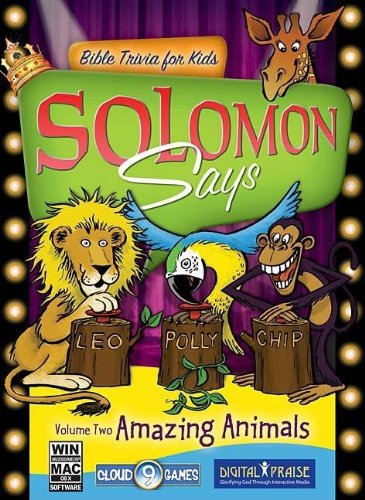 Solomon Says Bible Trivia for Kids: Amazing Animals, Learn About Animals of the Bible