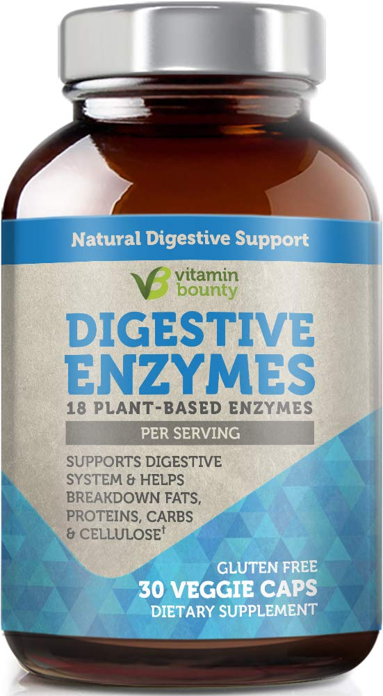 Vitamin Bounty Digestive Enzymes - 18 Plant Based Enzymes for Digestive Health by Vitamin Bounty
