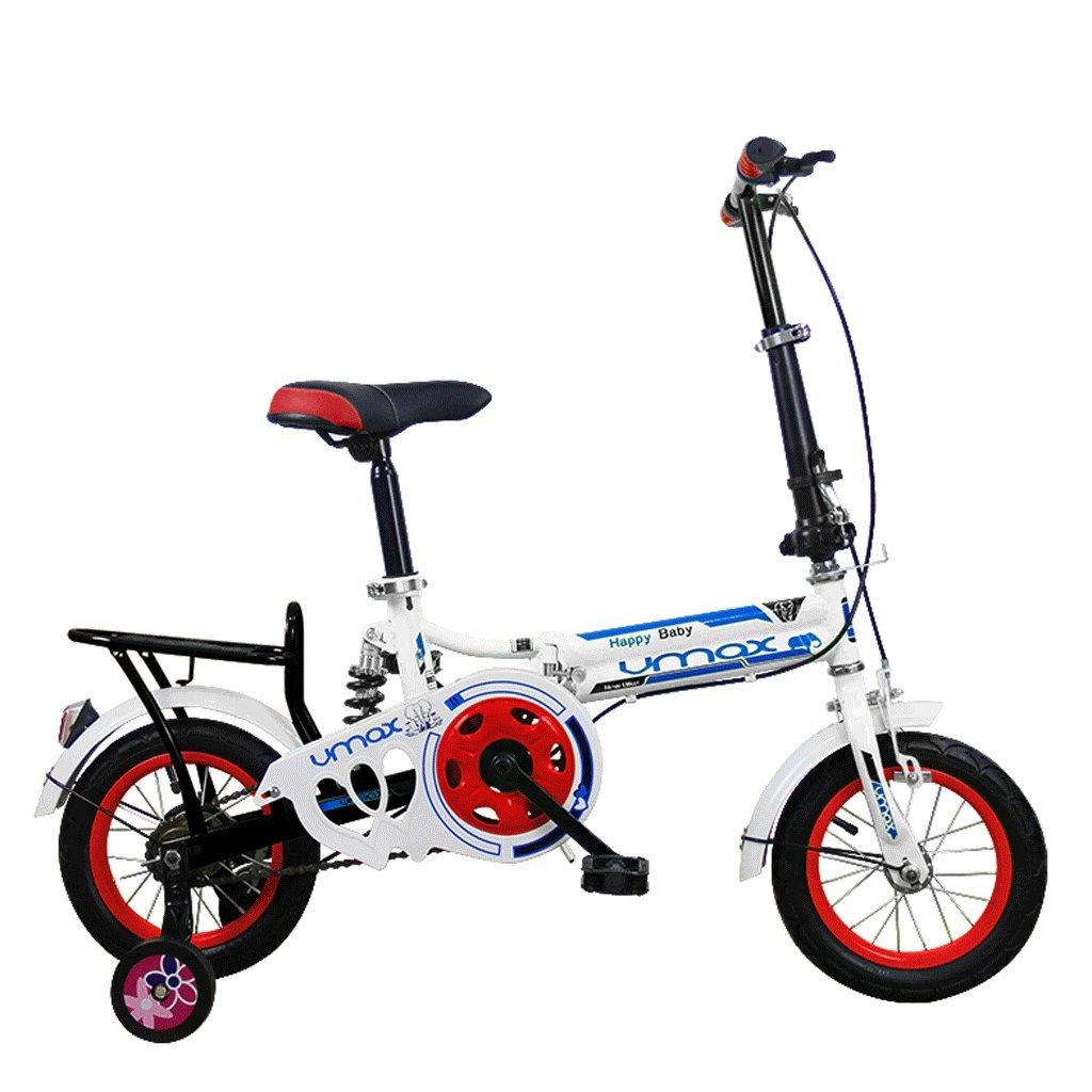 子供の折りたたみ自転車16インチミニ折りたたみ自転車男性と女性の学生 (色 : 赤) B07D6MZHQK赤