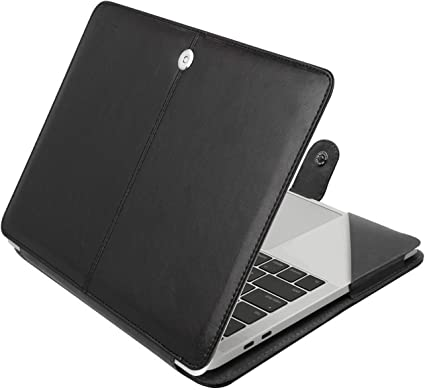 Mosiso PU Leather Stand Case Cover for Mac Pro 13 15 Touch Bar 2018 A1989 A1990