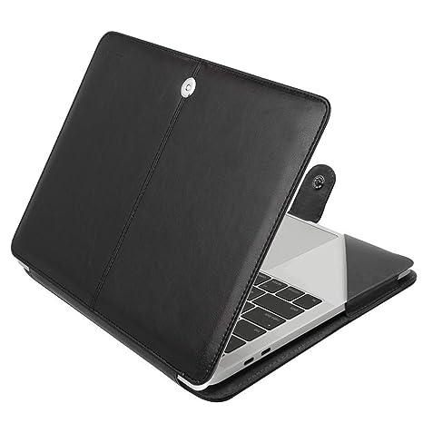 MOSISO Case Compatible with 2019 2018 MacBook Air 13 A1932 Retina/2019 2018 2017 2016 Mac Pro 13 A2159/A1989/A1706/A1708, Premium PU Leather Folio ...