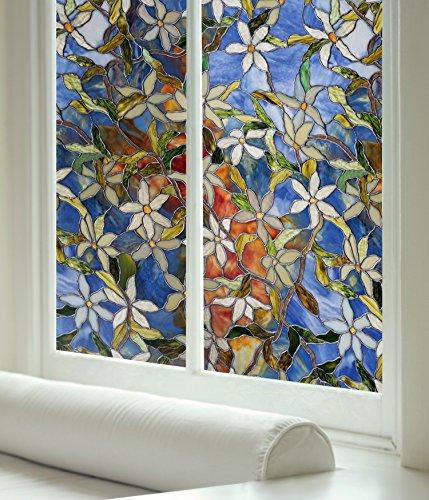 Lámina para las ventana diseño Clematis de 60,96 x 91,44 cm