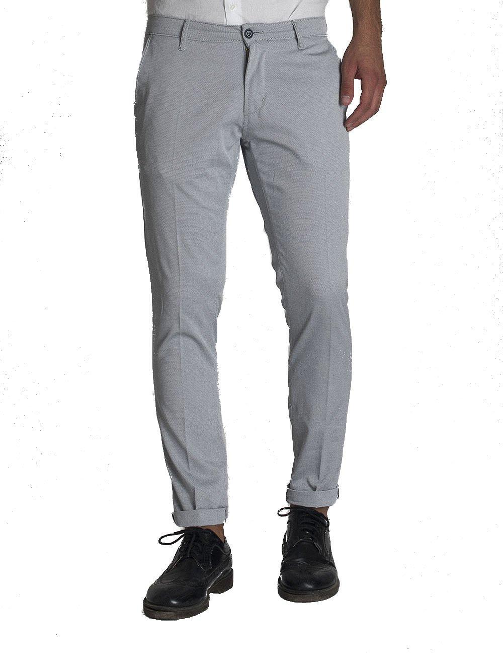 Pantalone uomo slim fit tessuto microarmaturato cotone made in italy