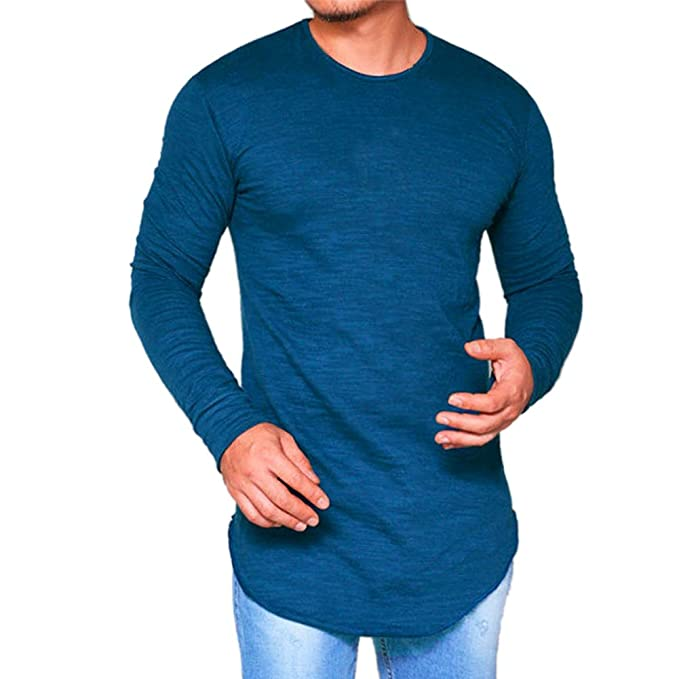 size 40 80b53 90140 semen Herren Langarm Shirt Baumwoll Longsleeve Slim Fit T-Shirt Leicht  Oversize Basic Sweatshirt in vielen Farben