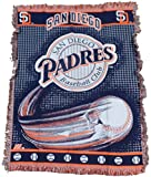 MLB San Diego Padres 48-Inch-by-60-Inch Jacquard Acrylic Throw