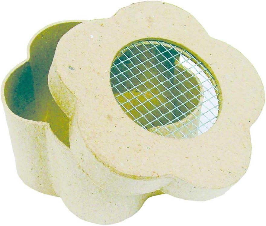 Mini Coeur Grillag/é un Support en Papier Brun Pulp/é Dimension 8x8x4 cm D/écopatch BT666O
