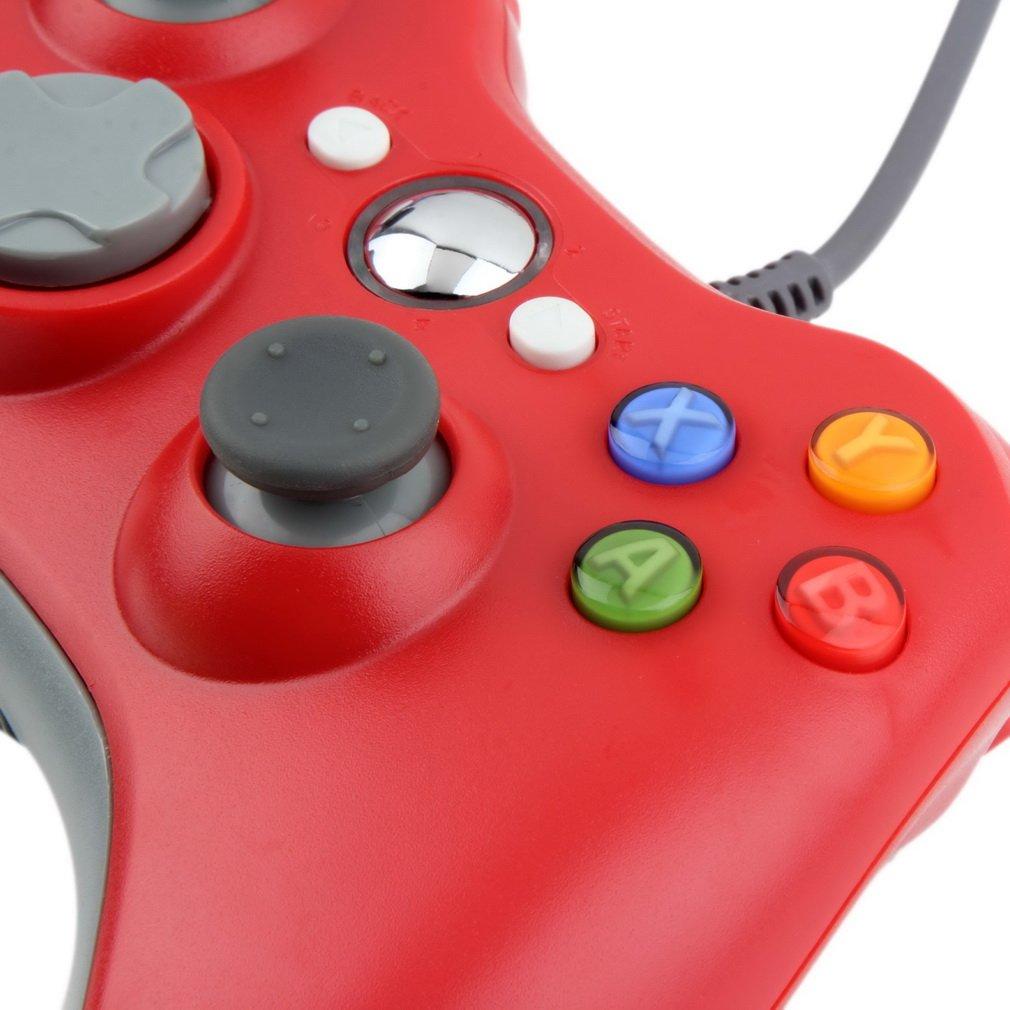 Mando Xbox360 con cable. Gamepad compatible con todos los modelos de Xbox 360, y dispositivos que acepten Xinput, rojo: Amazon.es: Electrónica