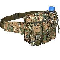 Tianxiu Wodoodporna torba na brzuch, outdoorowa torba na talię nerki praktyczna nylonowa kamuflaż torba sportowa…