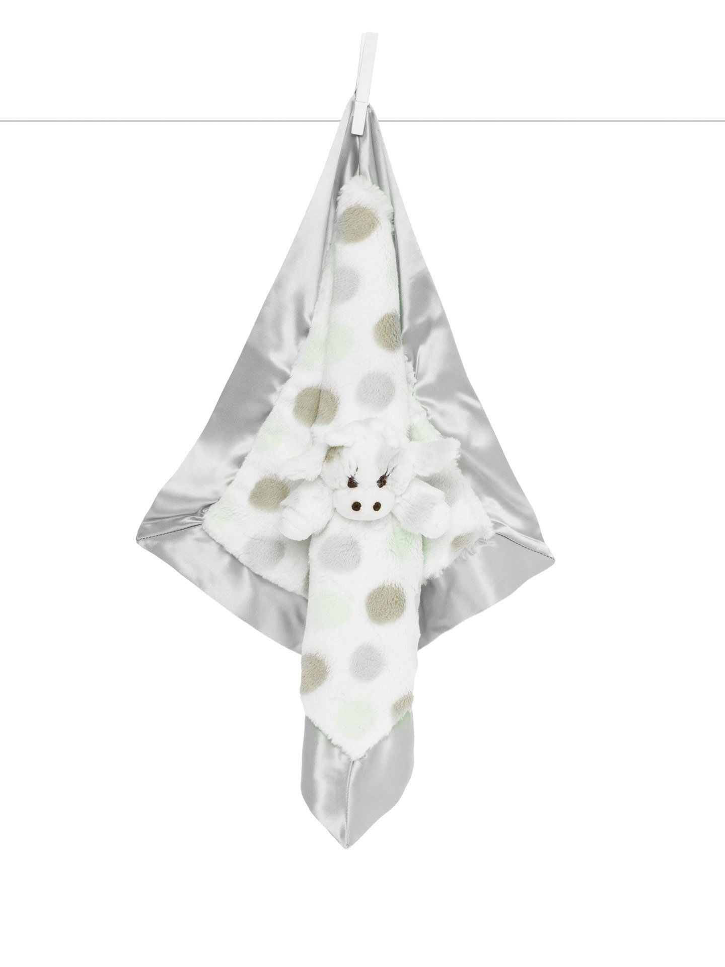 Little Giraffe Little G Blanky - Animal Security Blanket (Silver)