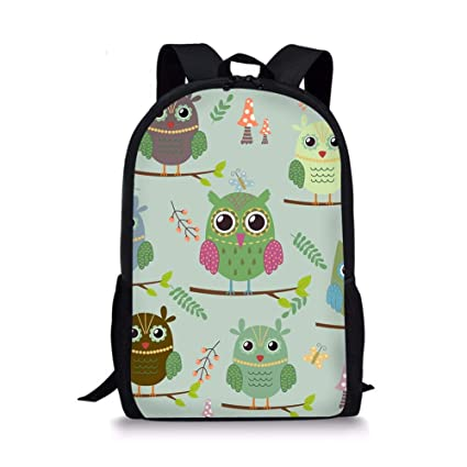 Amazon.com | Coloranimal Stylish Animal Owl Pattern School Bags for College Student Mochilas Escolar | Kids Backpacks