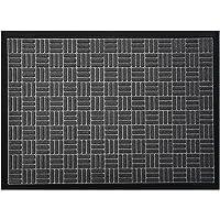 McoMco Gray Front Door Mats, 75cm*45cm, All Weather Entry and Back Yard Door Mat, Indoor and Outdoor Safe, Slip…