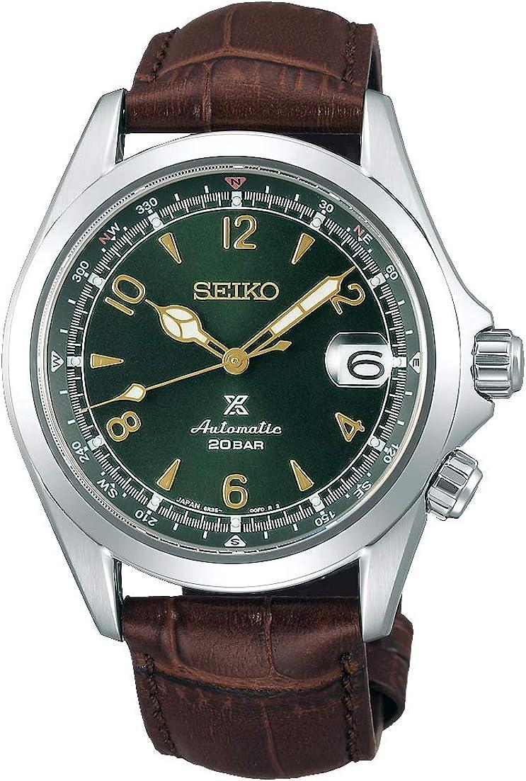 Seiko Prospex SPB121J1 / SPB121 - Reloj de pulsera automático para hombre (correa de piel), color alpino