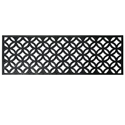 Rubber Cal Azteca Indoor Outdoor Stair Treads Rubber Step Mats, 9.75 By  29.75