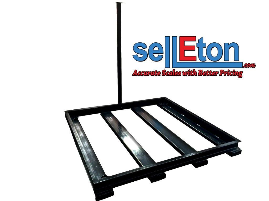 5 X 5 Floor Scale Pallet Size W// 2 Bumper Guards 10,000 Lbs X 2 Lb Selleton 60 X 60