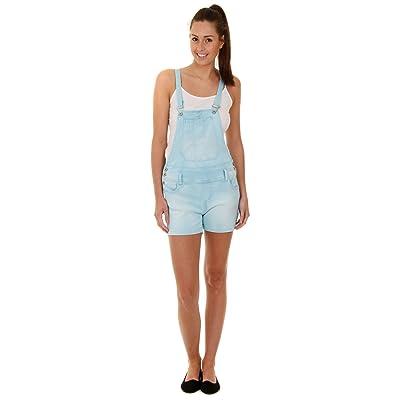 Millenium Femme - Salopette Short - Bleu en jean denim shorts pour femme WOMSH02