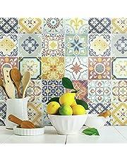 RoomMates Spanish Terracotta Tile Peel and Stick Backsplash
