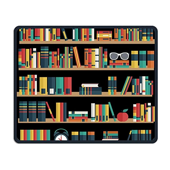 Smooth Mouse Pad Cartoon Bookshelf Mobile Gaming MousePad Work Office