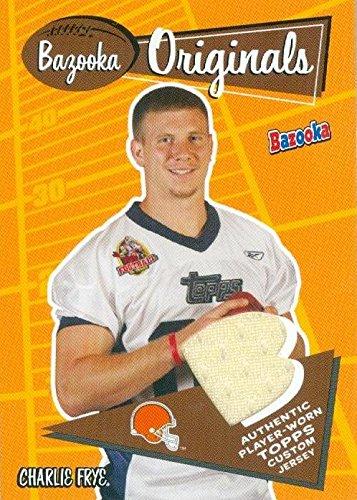 Charlie Frye player worn jersey patch football card (Cleveland ... ecc77cc52
