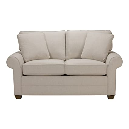 Ethan Allen Bennett Roll Arm Sofa, 63u0026quot; Loveseat, Hailey Oatmeal  Textured Fabric