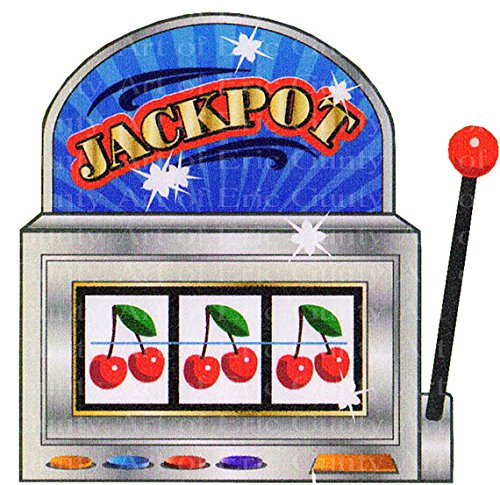 1/4 Sheet - Jackpot Casino Slot Machine Birthday - Edible Cake/Cupcake Party Topper!!!]()