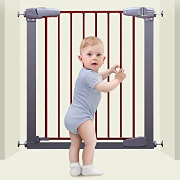 Amazon Com Extra Wide Baby Gate With Door For Stairs With