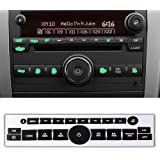 ROCCS 07-14 GM Vehicles Radio Dash Button Repair Kit Decal Fix Ruined Faded Audio Control Sticker Replacement for Denali…