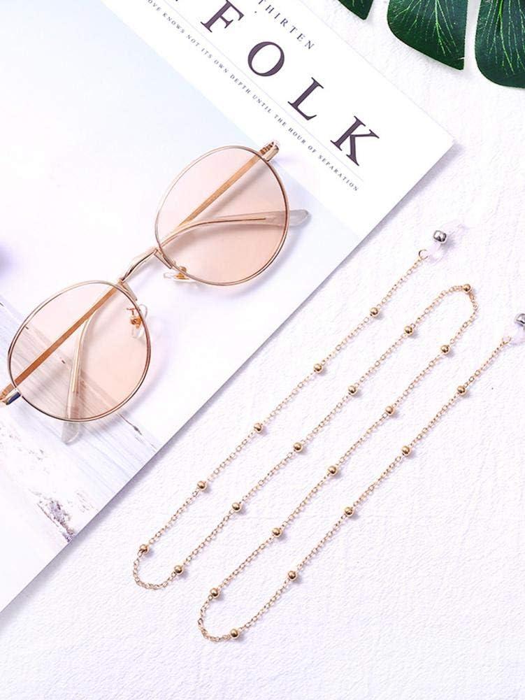 Sonnenbrillenkette Perlen Brille Kette h/ängend Hals Brillengurte F/ür M/änner Frauen