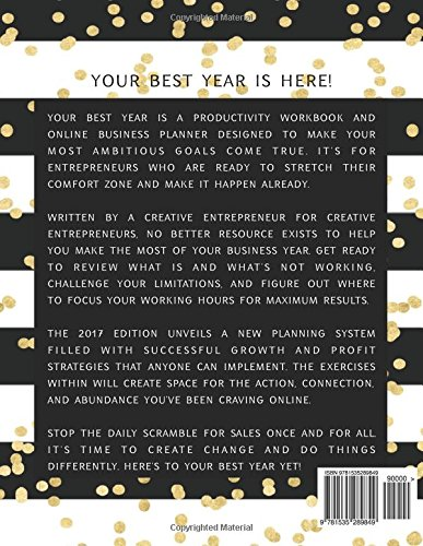 your best year 2017 productivity workbook and creative business