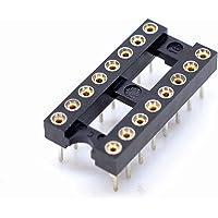 Willwin - 30 adaptadores de enchufe DIP IC