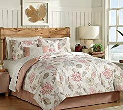 Coral, Seashells, Starfish, Beach Themed, Nautical King Comforter Set BB (8 Piece Bed In A Bag)