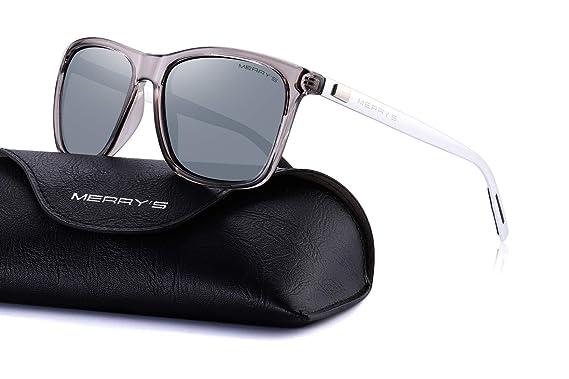 b964f785f8 MERRY S Unisex Polarized Aluminum Sunglasses Vintage Sun Glasses For  Men Women S8286 (Silver