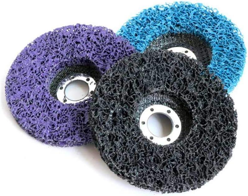 Poly Strip Polishing Disc Roll Lock Sanding Disc Grinding Wheel Rust Paint Remover Wheel