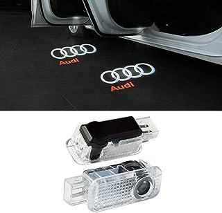 LIKECAR 2pcs Wireless Car Door Projector Lights Ghost Shadow Light Welcome Lamp Light Audi A1 A3 A4 A5 A6 A7 A8 Q3 Q7 R8 TT