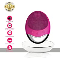 Cepillo de Limpieza Facial eléctrico, facial eléctrico para mujeres y hombres ,Sonic Facial Cleansing Brush Anti-Aging Facial Massager for Sensitive Skin 3 in 1 Silicone Face Cleanser Wireless Rechargeable Pore Cleanser ,Deep Cleaning,Gentle Exfoliating,Removing Blackheads Acne Dark Spots