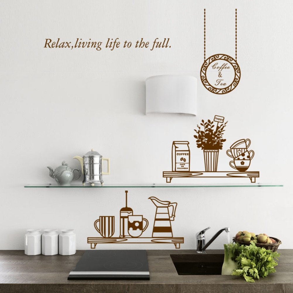 CDFGDJGGDGD Wall Stickers,Home Decoration Stickers Restaurant Kitchen Cabinet Background Wall Paper Creative Refrigerator Kitchen appliances Waterproof Stickers-A