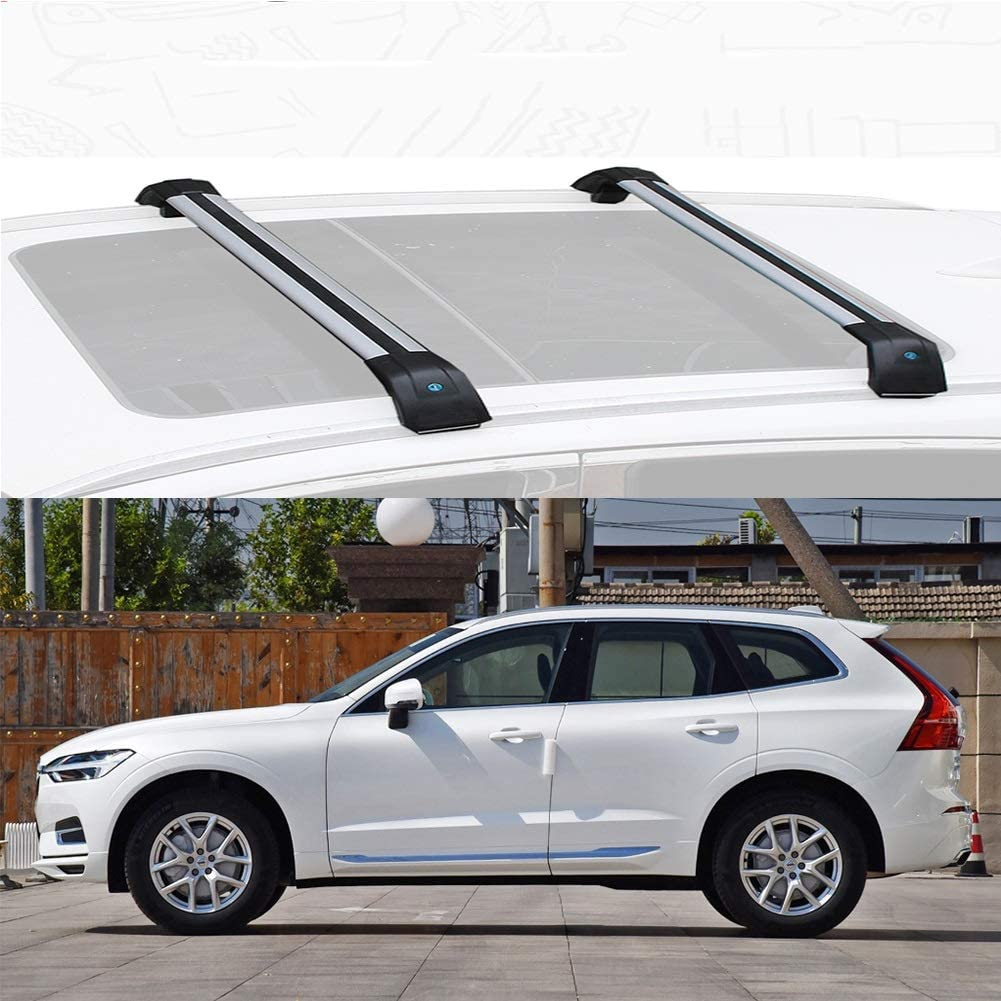 Size : for Volvo Xc60 2015 LLDS Ma/ßgeschneidert for Xc60 Aluminiumlegierung Dachtr/äger Traversen Dachfracht Bars for Xc60