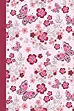 Journal: Floral with Butterflies (Pink) 6x9 - LINED JOURNAL - Journal with lined pages - (Diary, Notebook) (Birds & Buttte...