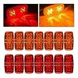 Catinbow-14-X-LED-Marker-Light-Bullseye-4-x-2-Super-Bright-10-Diodes-Trailer-Truck-Side-Marker-Light-Indicator
