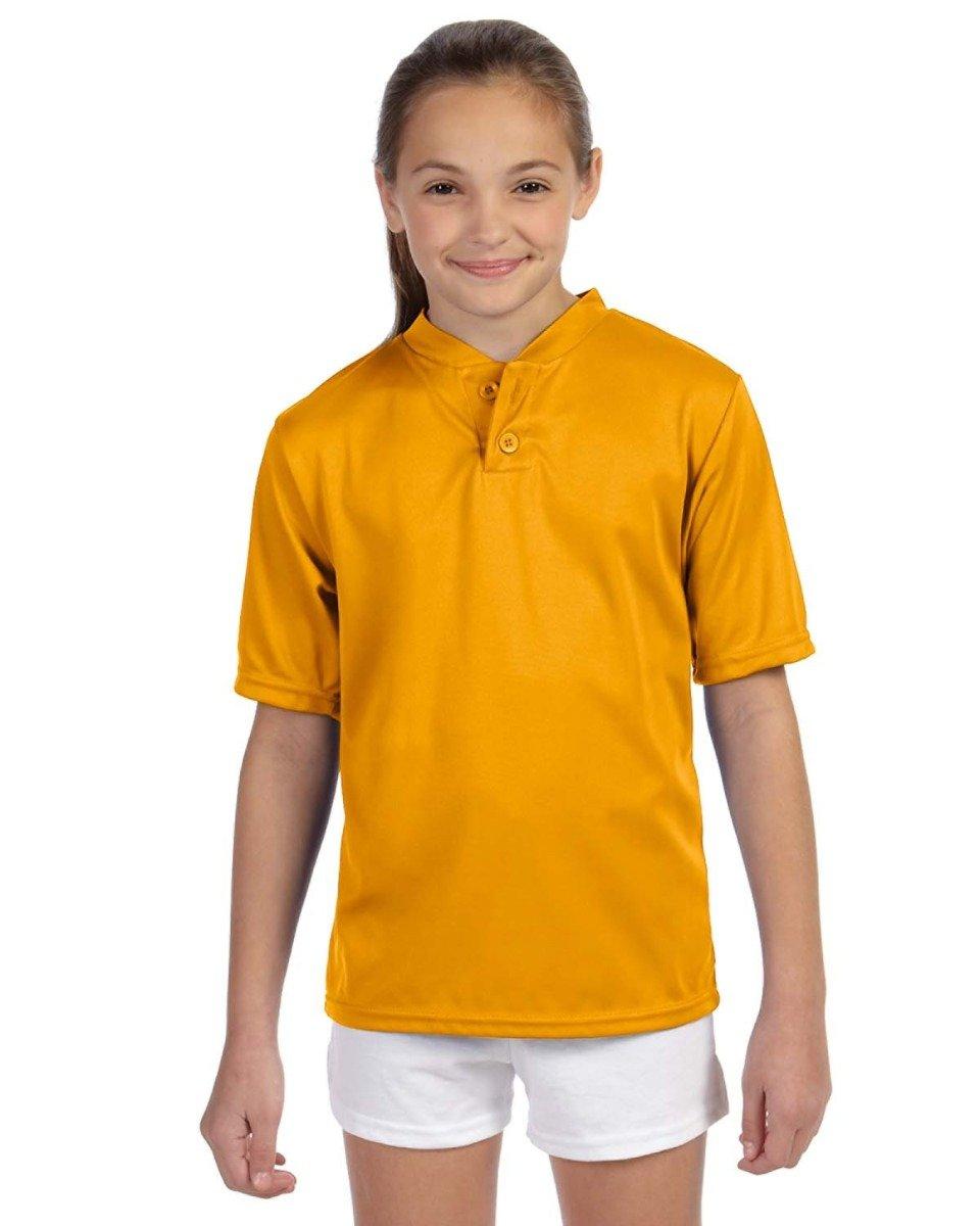 Augusta Sportswear SHIRT ボーイズ B00BN4DOF0 Large|ゴールド ゴールド Large