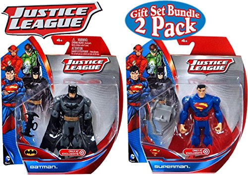 "DC Comics Justice League Batman & Superman 5"" Action Figures Gift Set Bundle - 2 Pack"