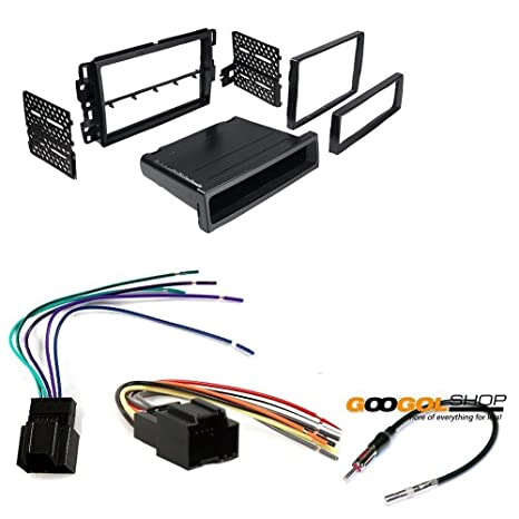 amazon com: chevrolet 2009-2012 traverse car stereo dash install mounting  kit wire harness radio antenna: car electronics