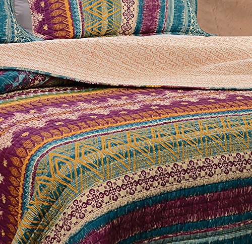 Greenland Home 3 Piece Southwest Quilt Set King New Ebay