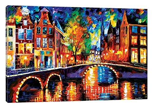 iCanvasART the Bridges of Amsterdam Canvas Print, 40