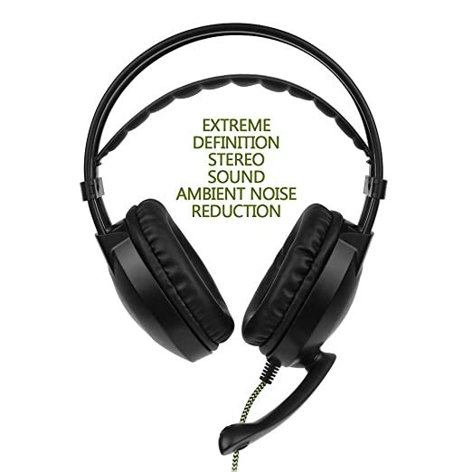 Amazon Com Walmeck 3 5mm Gaming Hedsets With Microphone Over Ear