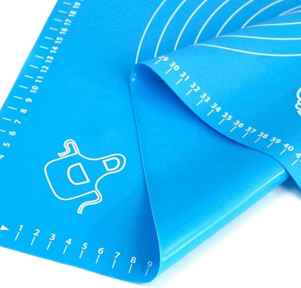 antiscivolo senza BPA Tappetini da forno in silicone con misure grandi 40 x 60 cm antiaderenti per impasti Blu blu