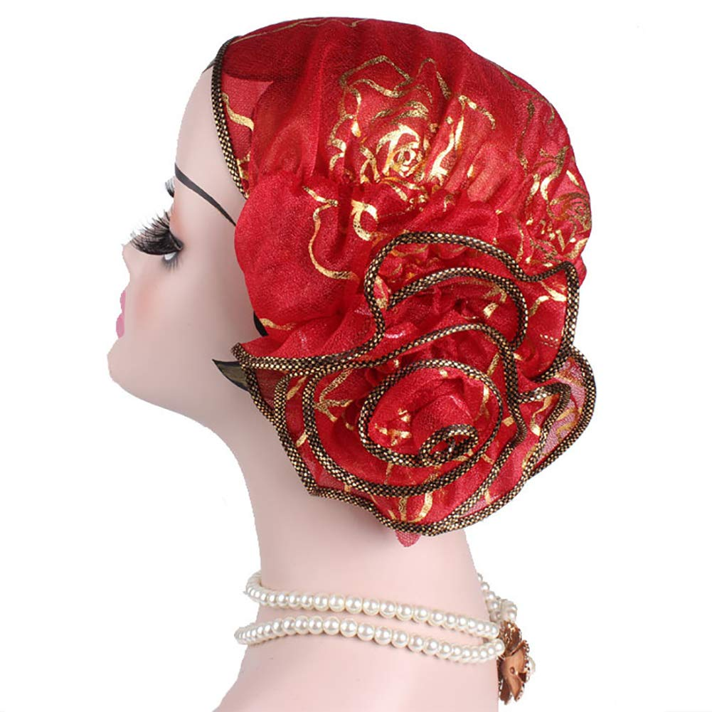1920s Style Hats Chemo Headwear Turbans Long Hair Head Scarf Headwraps Cancer Hats for Hair Loss $6.99 AT vintagedancer.com